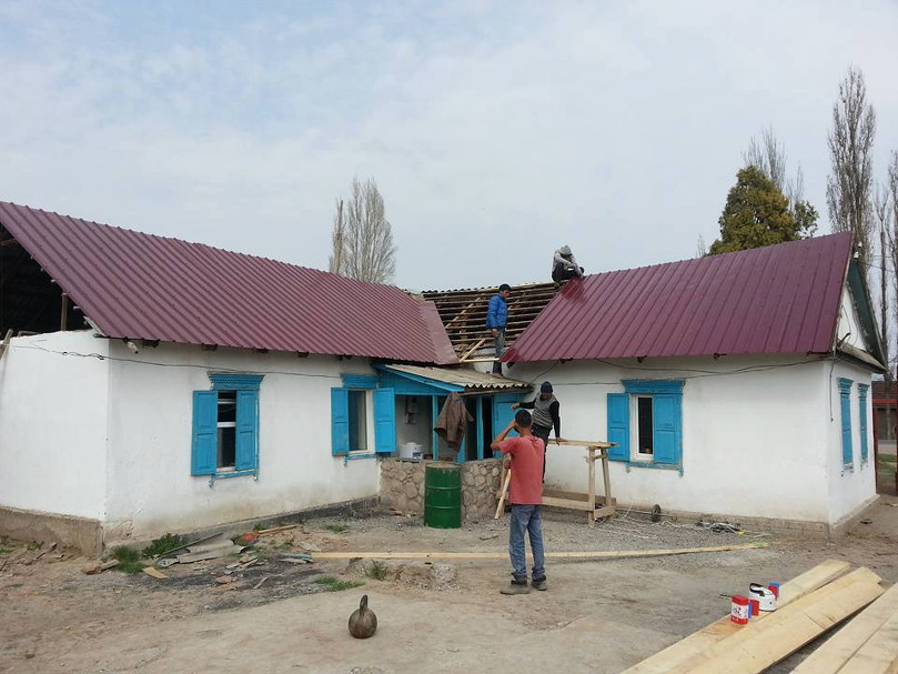 Kyrgyzstan Farm Project Construction on House